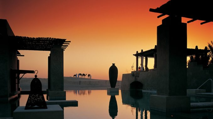 Bab Al Shams Desert Resort & Spa - Sunset at Pool