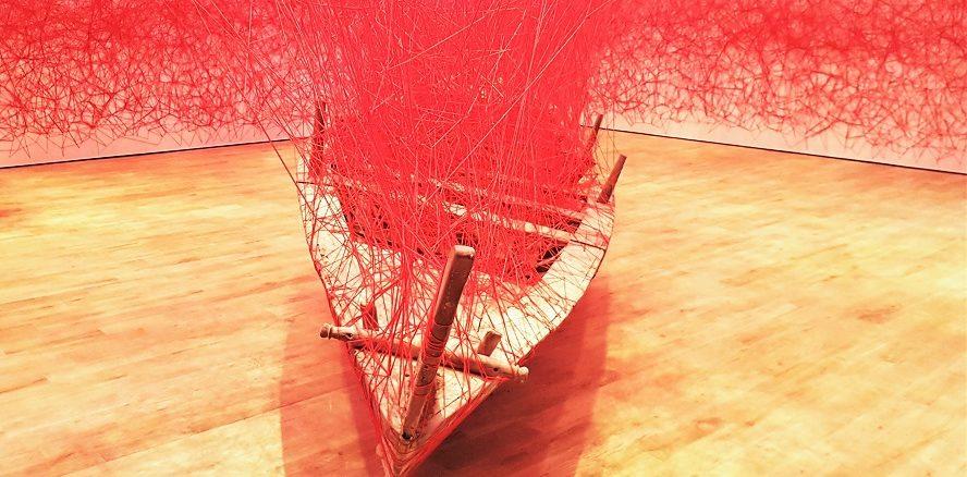 Jameel Arts Centre Dubai - Grand Opening - Artist's Rooms - Chiharu Shiota (2018)