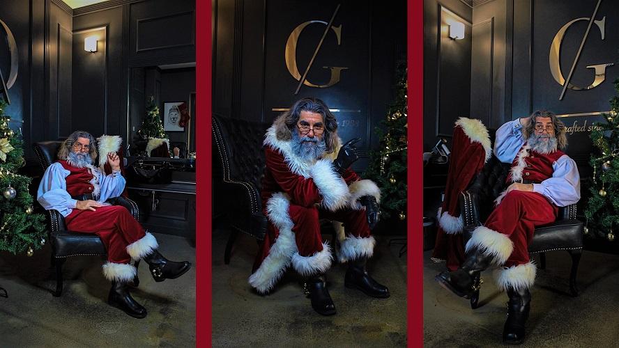 CG Barbershop Dubai Media City welcomes Santa Claus